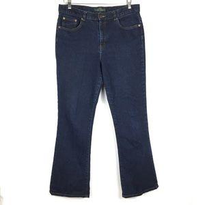 Ralph Lauren dark wash bootcut denim blue jeans